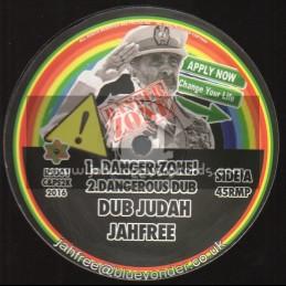 """Jah Free Music-12""""-Danger Zone / Dub Judah Meets Jah Free"""