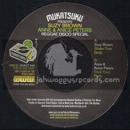"Mukatsuku Records-7""-Shake Your Body / Suzy Brown + Rock Your Body / Anne And Anice Peters"