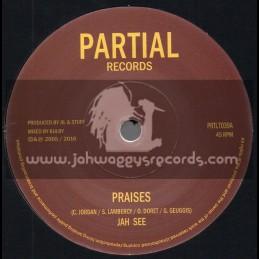 "Partial Records-7""-Praises / Jah See + Dub Praises / Restless Mashaits"