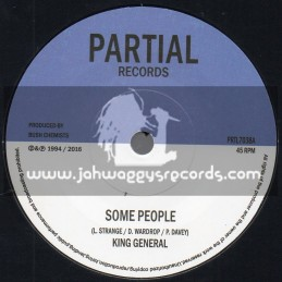"""Partial Records-7""""-Some People / King General + Send Him Away Version / Bush Chemists"""