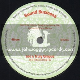 "Sound Business-7""-Truly Unique / El Indio And Paul Fox + Unique Dub / Shades Of Black"