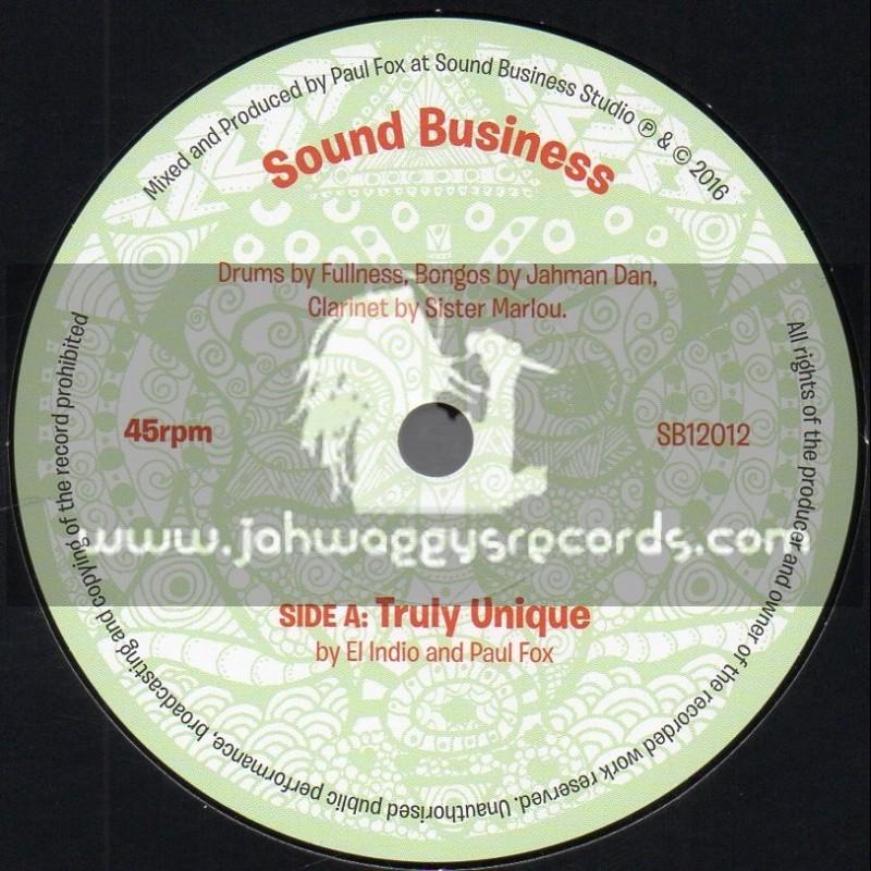 "Sound Business-7""-Truly Unique / El Indio And Paul Fox + Unique Dub / Shades Of Black"