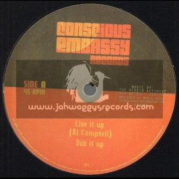 "Conscious Embassy Records-12""-Live It Up / Al Campbell + Set Dem Free / Young Kulcha"