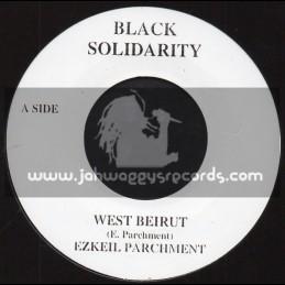 "Black Solidarirty-7""-West Beirut / Ezkeil Parchment"