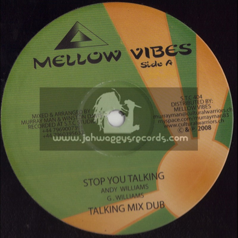 """MELLOW VIBES -10""""-BURNING RED/TENNA STAR + STOP YOU TALKING/ANDY WILLIAMS"""