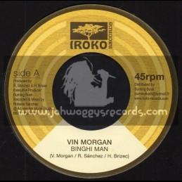"Iroko Records-7""-Binghi Man / Vin Morgan + Binghi Dub / Lone Ark Riddim Force"