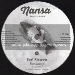 "Nansa Records-12""-Run Away / Earl Sixteen + Allience / Marcus I"