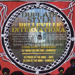 """Belleville International-10""""-Mama Nature / Kojo Neatness + Power Of The Mind / Ante - Barbes.D Dubplate Style"""