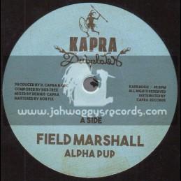 "Kapra Dubplates-7""-Field Marshall / Alpha Pup + Kung Fu / Dennis Capra"