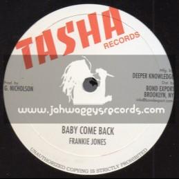 "Tasha Records-10""-Baby Come Back / Frankie Jones + Feel Like Dancing / Steve Knight + Jah Is On My Mind / Michael Palmer"