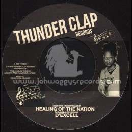 """Thunder Clap Records-7""""-Healing Of The Nation / D'excell + Small Axe Dub / Roberto Sanchez"""