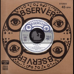 "Observer-Iron Sound Records-7""-Water Of Life / Anthony Que + Water Dub / Sly & Robbie"