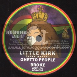 "Sir Logie International Records-7""-Ghetto People Broke / Little Kirk + Ghetto Dub / D. Wardrop"