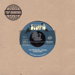 "Black Scorpio-Top Ranking Sound-7""-The Strong Will Survive / Silvertones"