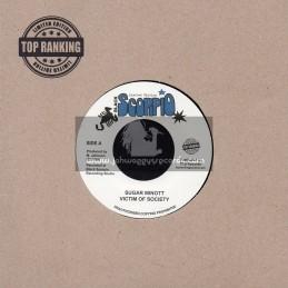 "Black Scorpio-Top Ranking Sound-7""-Victim Of Society / Sugar Minott"