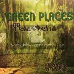 Roots Hi Tek-Lp-Green Places / Tena Stelin - Limited Edition Green Vinyl