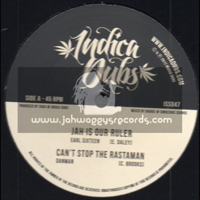 """Indica Dubs-10""""-Jah Is Our Ruler / Earl Sixteen + Cant Stop The Rastaman / Danman"""