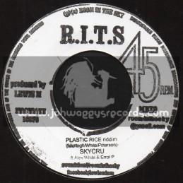 "R.I.T.S-7""-Plastic Rice Riddim / Skycru + Leseane / Skycru Feat. Ray Carless"