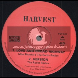 "Harvest-10""-Love And Broad Highway / Mike Brooks & The Roots Radics + Long Long Time / Mike Brooks & The Roots Radics"