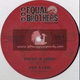 "EQUAL BROTHERS-10""-MASTER OF WORKS/MUZICAL BEN+MUS A LION/RAS SEVEN"