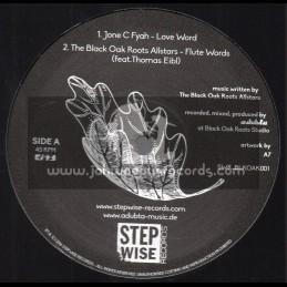 "Step Wise Records-12""-Love Word / Jone C Fyah + Inna Di End / Isayah - aDUBta Meets The Black Oak Roots Allstars"