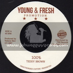 """Young & Fresh Promotion-Top Ranking Sound-7""""-100% / Teddy Brown"""