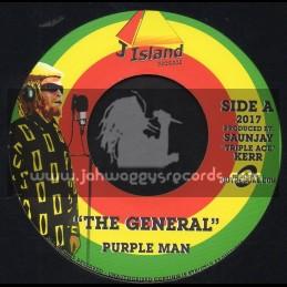 "J Island Records-7""-The General / Purple Man"