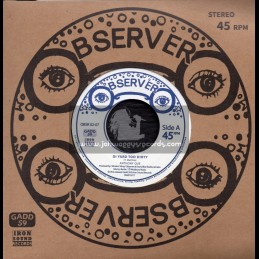 "Observer-7""-Di Yard Too Dirty / Anthony Que + Yard Dub / Sly And Robbie"