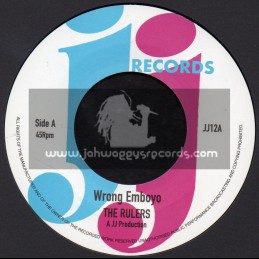 "JJ Records-7""-Wrong Emboyo / The Rulers + Be Mine / The Rulers"
