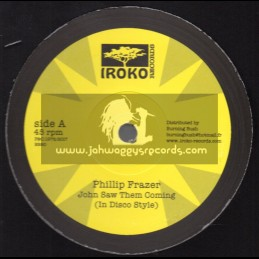 "Iroko Records-7""-12""-John Saw Them Coming / Phillip Frazer + Troubles / Phillip Frazer"
