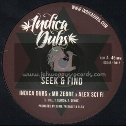 """Indica Dubs-7""""-Seek And Find / Indica Dubs Meets Mr Zebre And Alex Sci Fi"""