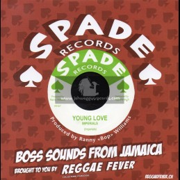 """Spade Records-7""""-Young Love / Imperials + Carib Special / Hippy Boys"""