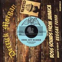"Hop-7""-Cool Off Rudies / Derick Morgan + Take It Easy / Derrick Morgan"