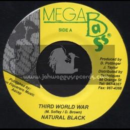 "Mega Bass-7""-Third World War / Natural Black"
