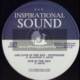 """INSPIRATIONAL SOUND-10""""-JAH LOVE IS THE KEY / STEPHANIE + SEE DEM A COME / BONGO CHILLI"""