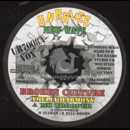 "Unrulee Records-New Wave-7""-Broken Culture / Amelia Harmony And Mc Trooper"
