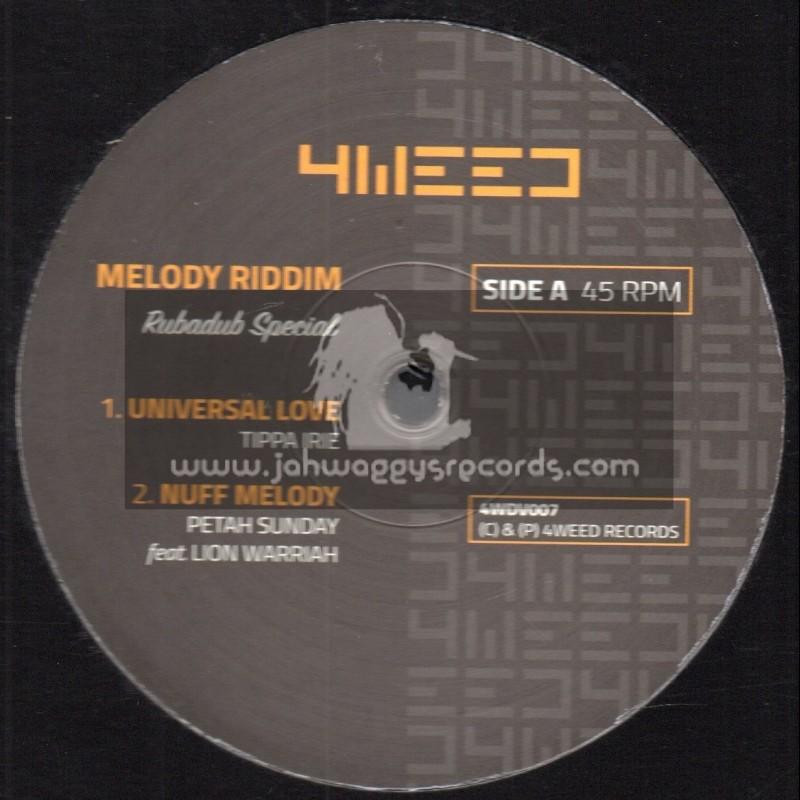 "4Weed Records-12""-Melody Riddim-Rubadub Special, Feat. Tippa Irie, Petah Sunday, Lion Warriah And Sista Awa"