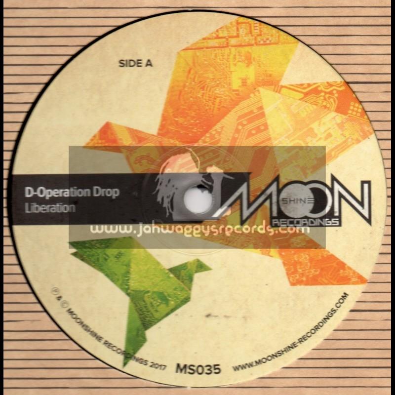 "Moonshine Recordings-12""-Liberation / D-Operation Drop+Rivers Of Babylon / D-Operation Drop+Black Casabo  / D-Operation Drop"