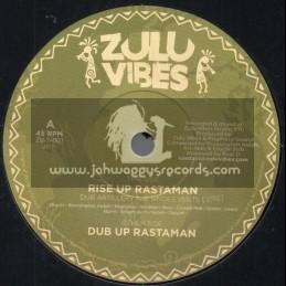 """Zulu Vibes-7""""-Rise Up Rastaman / Dub Artillery Feat. Singes Verts"""