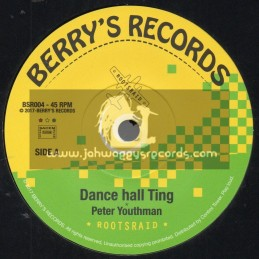 """Berrys Records-7""""-Dance Hall Ting / Peter Youthman + Riddim The Job / Rootsraid"""