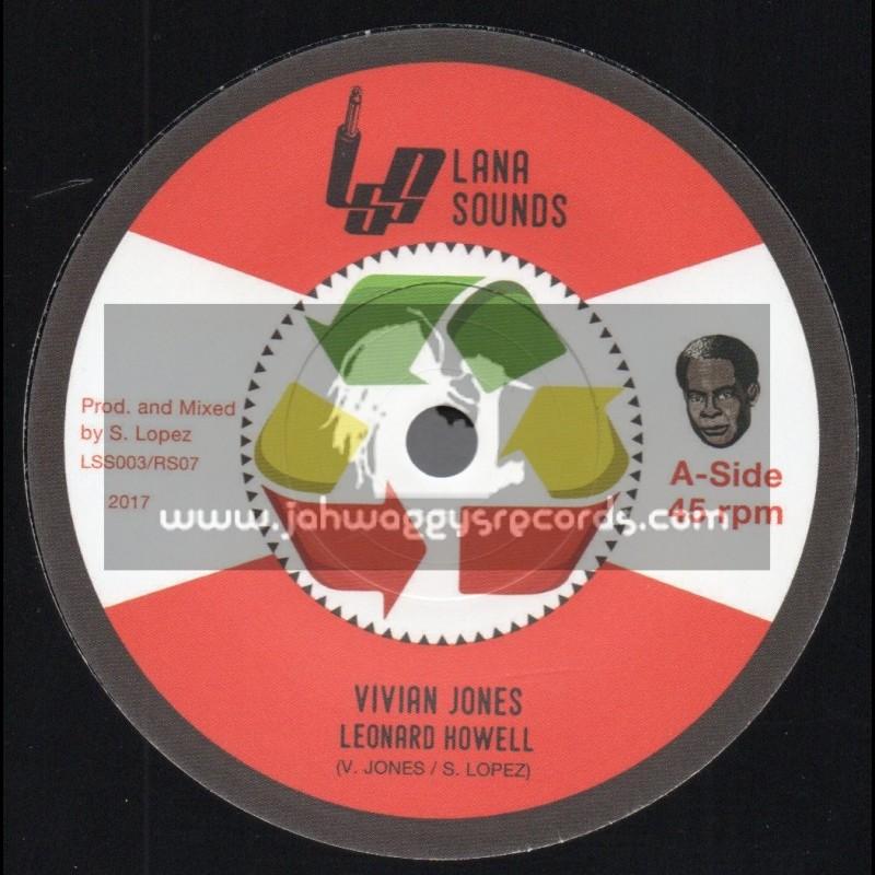 """Lana Sounds-7""""-Leonard Hewell / Vivian Jones + Great Leader Dub / S. Lopez"""