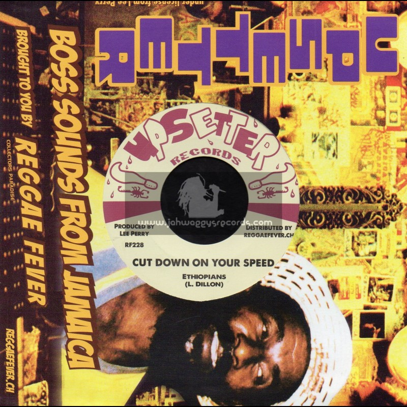 """Upsetter Records-7""""-Cut Down Your Speed / Ethiopians + One Little Lie / Dave Barker"""