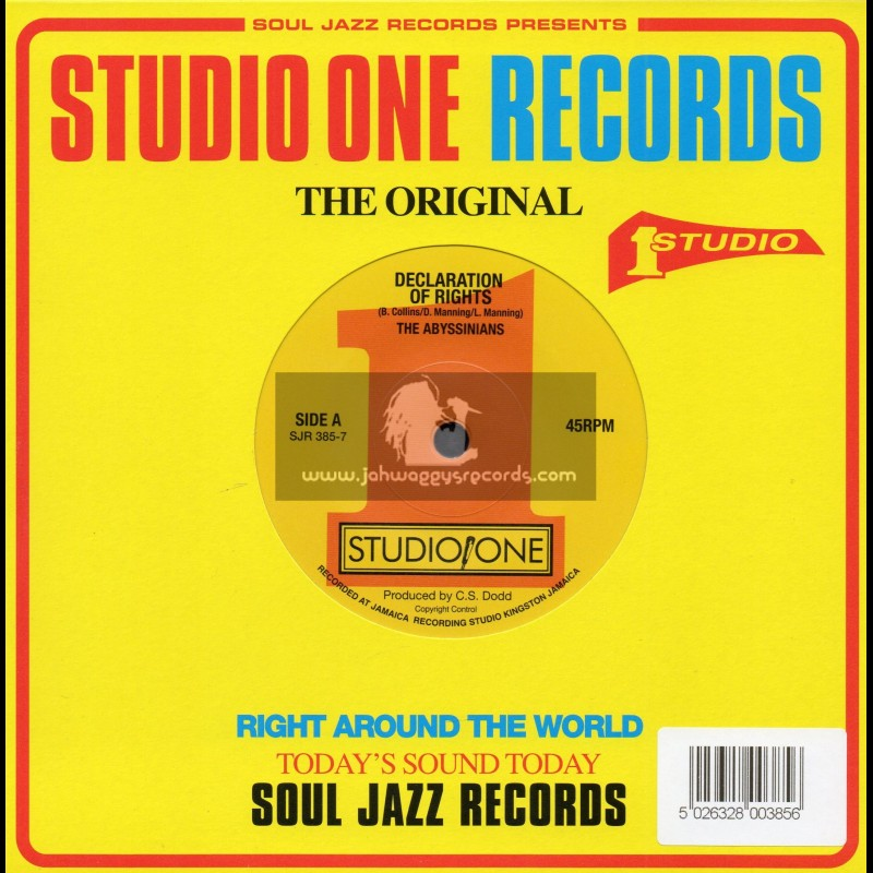 """Studio One-7""""-Declaration Of Rights / The Abyssinians + Declaration Version / The Abyssinians And Sound Dimension"""