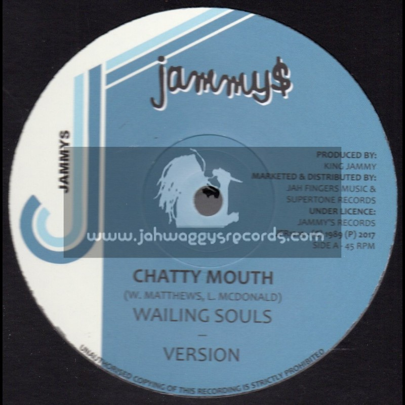 """Jammys-Jah Fingers-12""""-Chatty Mouth / Wailing Souls + Now And Forever / Dennis Brown"""