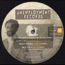 """Unemployment Records-12""""-Foundation Fi Di Youths / Lutan Fyah + Jah Guidance / Mighty Howard + Dub Guidance / Paco Ten"""