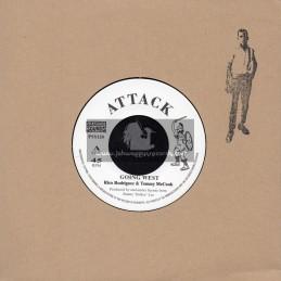 "Attack-Pressure Sounds-7""-Going West / Rico Rodriguez & Tommy McCook + Joe Lewis / Joe Lewis / Bunny Lee Allstars"