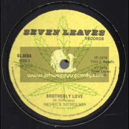 "Seven Leaves Records-12""-Brotherly Love / Henrick Nicholson + West Of Knatchbull / Prodigal Creator"