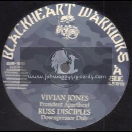 "Blackheart Warriors-10""-President Apartheid / Vivian Jones + No More Searching / Prince Alla"
