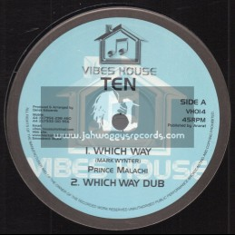 """Vibes House-10""""-Which Way / Prince Malachi + The Wicked Cant Enter / Dezzi D"""