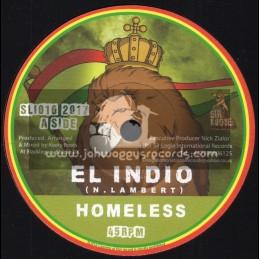 "Sir Logie International-7""-Homeless / El Indio + Homeless Dub / Keety Roots"
